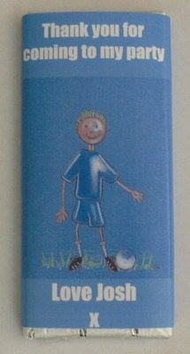 BLUE SHIRT FOOTBALLER - large chocolate bar 40g