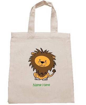 LION personalised cotton party bag (no contents included)