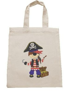PIRATE personalised cotton party bag (no contents included)