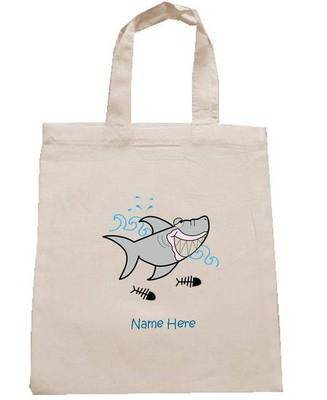 SHARK personalised cotton party bag (no contents included)