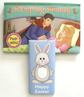 EASTER CHOC 'n' BOOK - 40g milk chocolate bar with fairy tale pop-up book