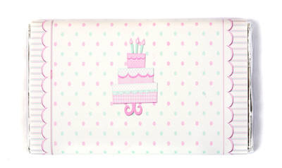 PINK SPOTTY CAKE - large chocolate bar 40g