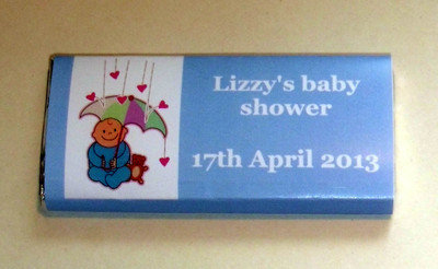 BLUE BABY SHOWER - large chocolate bar 40g