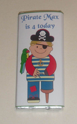 PIRATE WITH PARROT - large chocolate bar 40g