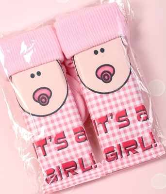 SOCKCHOCS GIRL - 2 x 40g Milk chocolate bars with sock hats