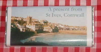 Parish Church, St Ives, Cornwall - 40g milk chocolate bar