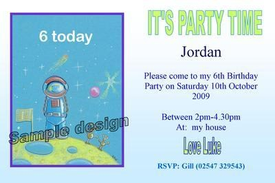 SPACEMAN invitation