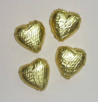 GOLD FOILED CHOCOLATE HEARTS