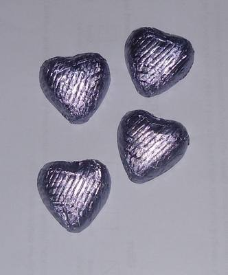 LILAC FOILED CHOCOLATE HEARTS