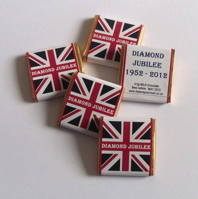 JUBILEE UNION JACK - mini 4.5g choc (milk, mint or orange)