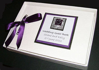DEE (PURPLE) personalised wedding guest book