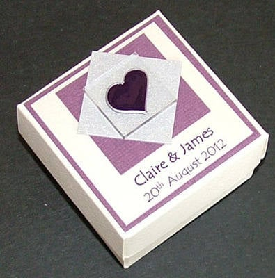 ASSYNT FAVOUR BOX Purple - personalised (box only)