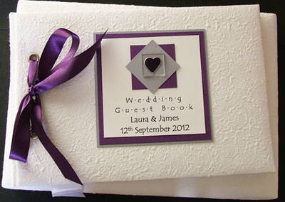ASSYNT (PURPLE) personalised wedding guest book