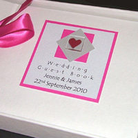 ASSYNT (PINK) personalised wedding guest book