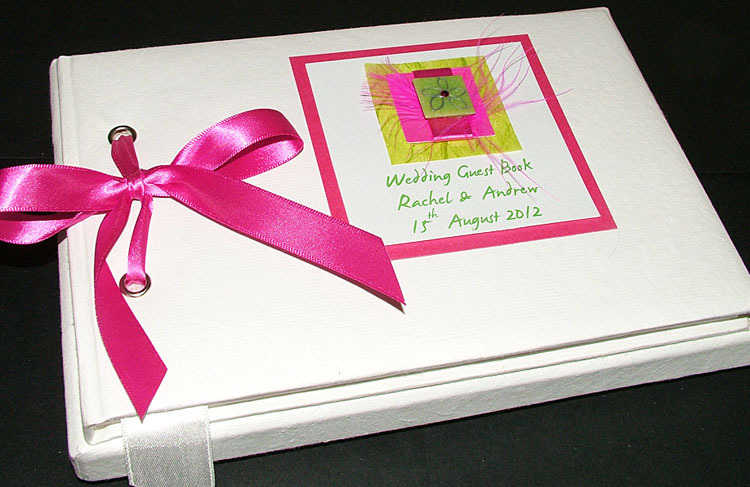 PINK Cluanie smooth guest book