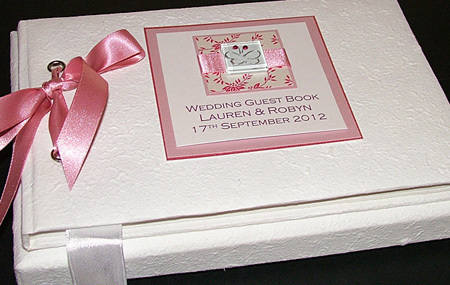PINK IONA guest book textured