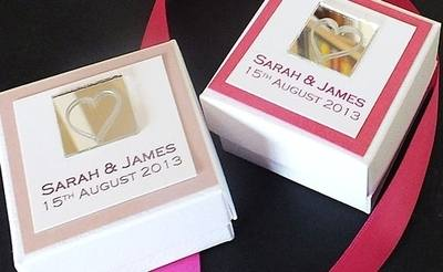 LEVEN FAVOUR BOX Pink - personalised (box only)