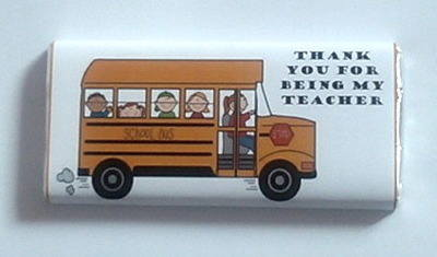 SCHOOL BUS TEACHER THANK YOU - large chocolate bar 40g