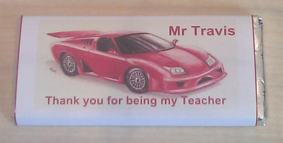 CAR TEACHER THANK YOU - large chocolate bar 40g