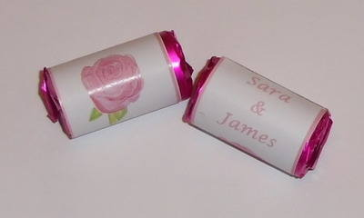 PINK ROSE - love hearts (2 sizes)