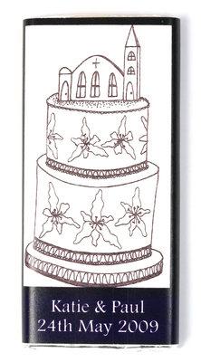 BLACK & WHITE CAKE - large chocolate bar 40g