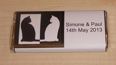 BLACK & WHITE CATS - large favour 40g