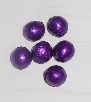 PURPLE FOILED CHOCOLATE BALLS