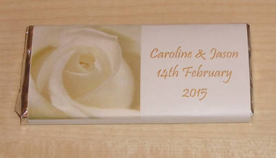 CREAM ROSE (gold wording) - large favour 40g