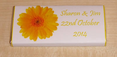 YELLOW GERBERA - large favour 40g