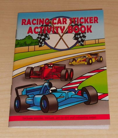 RACING CAR activity book