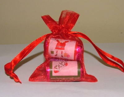 LOVE HEART ORGANZA GIFT BAG (mixed random designs)