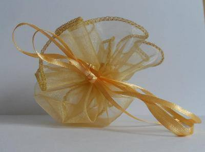 GOLD POUCH FAVOUR BAG (bag only)