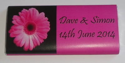 PINK GERBERA  - large favour 40g