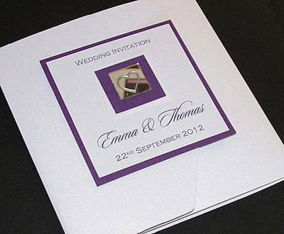 LEVEN (PURPLE) HANDMADE POCKET FOLD INVITATION CARD