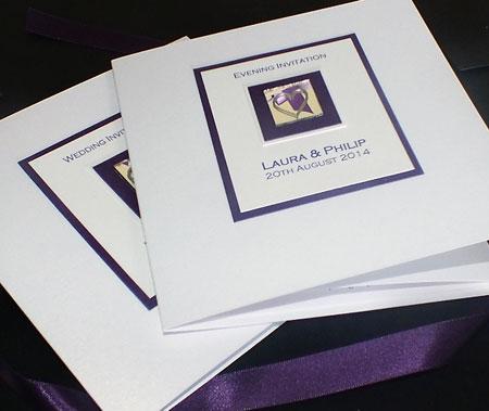 LEVEN purple classic invite white