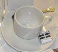 CORNISH FLAG mini choc on cup and saucer