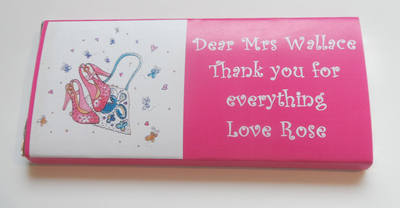 SHOES & HANDBAG TEACHER THANK YOU - large chocolate bar 40g