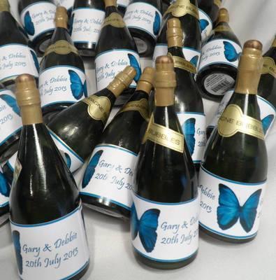 BUTTERFLY (teal) - bubbles (bottle shaped)