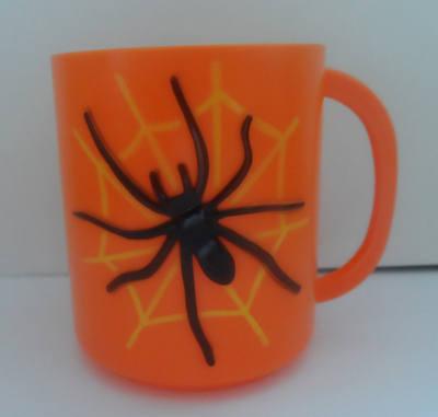SPIDER plastic halloween mug