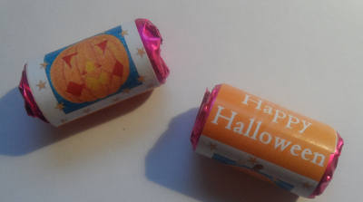PUMPKIN - mini roll love hearts