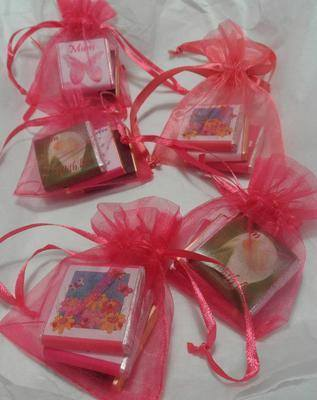 MOTHERS DAY MINI CHOC ORGANZA GIFT BAG