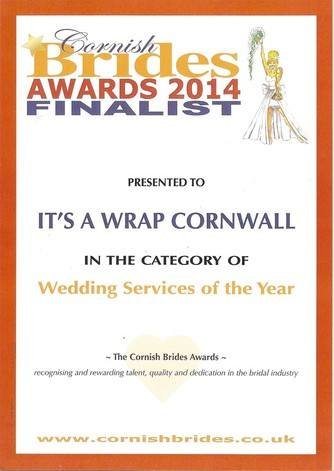 CORNISH BRIDES finalist award