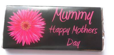 GERBERA (BRIGHT PINK) - large chocolate bar 40g