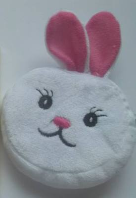 WHITE RABBIT KEYRING PURSE