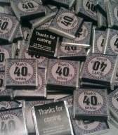 40TH BIRTHDAY (BLACK) - mini 4.5g chocolate favour