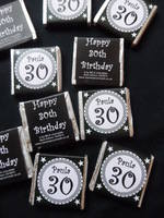 30TH BIRTHDAY (BLACK) - mini 4.5g chocolate favour