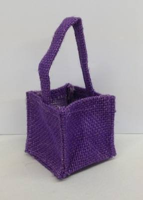 HESSIAN MICRO BAG (purple)