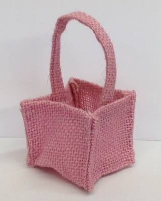 HESSIAN MICRO BAG (rose pink)