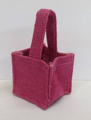 HESSIAN MICRO BAG (fuchsia)