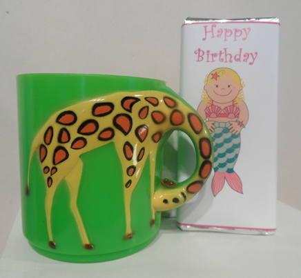 GIRAFFE choc n mug inside